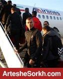 کالدرون در فرودگاه دست به کار شد/ سرخپوشان عازم استانبول