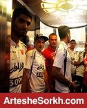 برخورد جالب توجه پرسپولیسی ها و ملوانی ها در هتل المپیک (عکس)