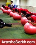 تمرینات بدنسازی و بازی فوتبال پرسپولیسی ها