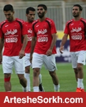 گرم کردن بازیکنان پرسپولیس و الاهلی در ورزشگاه سلطان قابوس مسقط (عکس)