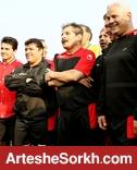 تیم فوتبال پیشکسوتان پرسپولیس در مسابقات مبارزه با اعتیاد