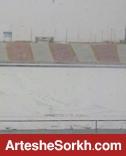 بارش برف باعث تغییر محل تمرین سرخپوشان