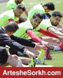 تمرین سبک تیم در روز بازی با گوا