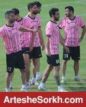 گزارش تمرین؛ تنیس فوتبال گل محمدی و باقری با بازیکنان