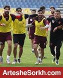 گزارش تمرین؛ تنیس فوتبال و آقا وسط قبل از بازی با فولاد