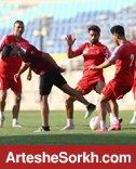 گزارش تمرین: ریکاوری و تنیس فوتبالِ گل محمدی با سرخپوشان