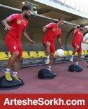 تمرین سبک 13 پرسپولیسی در ورزشگاه کاظمی