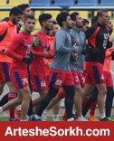 آخرین تمرین پیش از سفر به قطر انجام شد