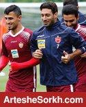 تمرینات 3 پرسپولیسی در ورزشگاه شهید کاظمی برگزار شد