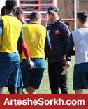 گزارش تمرین: توضیحات گل محمدی به سرخپوشان و کری داغ بازیکنان