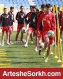 تنیس فوتبال در دستور کار تمرین امروز